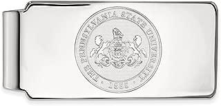 Jewel Tie 925 Sterling Silver Penn State University Money Clip Crest (55mm x 26mm)