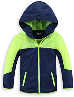 M2C Boys & Girls Hooded Light Weight Windbreaker Water Resistant Jacket