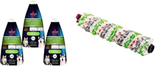 BISSELL Crosswave Pet Accessory Bundle - Bissell Multi Surface Pet Floor Cleaning Formula, 3 Pack, Green and Bissell Tangle-Free Crosswave Multi-Surface Pet Brush Roll, White
