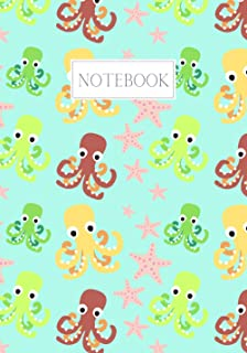 Notebook: Maggie Squeak - Rainbow Octopus Seastar Lined Notebook