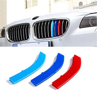 3D color M Styling Front Grille Insert Trim Strips Grill Cover Stickers for 2010 to 2015 BMW 5 Series GT 5GT F07 528i 535i 550i