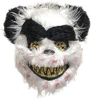 GEDASHU Halloween mask Bloody Rabbit Mask Halloween Horror Plush Mask Unique Panda Wolf Bear Shape Masquerade Party Cosplay Mask Festive Party Supplies
