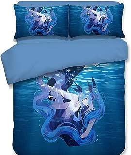 Sport Do Hatsune Miku Bedding Set and Pillowcase - Cartoon Duvet Cover Set Girls' Gift Princess Home Decoration Lovely Design Many Options Full 4PC