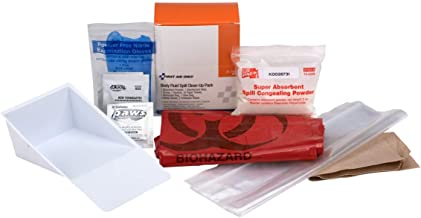 Bloodborne Pathogen (BBP) Spill Clean-Up Pack, 22 Piece | OSHA Compliant BBP Spill Kit Emergency Kits First Aid Cabinet Refill