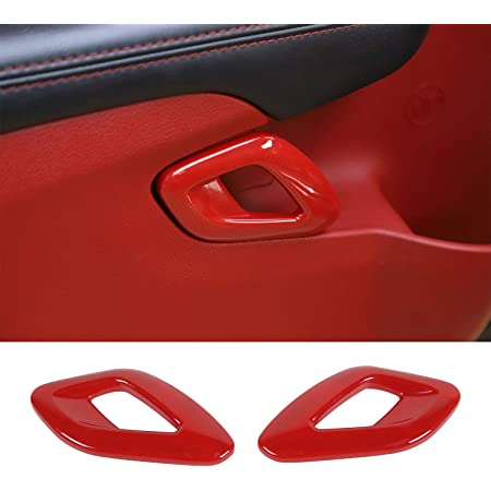 ABS Red//Black Texture Voodonala for Challenger Roof Window Handle Trim for 2012-2020 Dodge Challenger 1pc