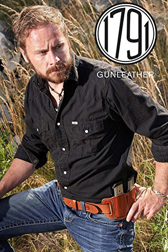 1791 GUNLEATHER Gun Belt – Concealed Carry CCW Belt – Heavy Duty 14 oz Leather Belt