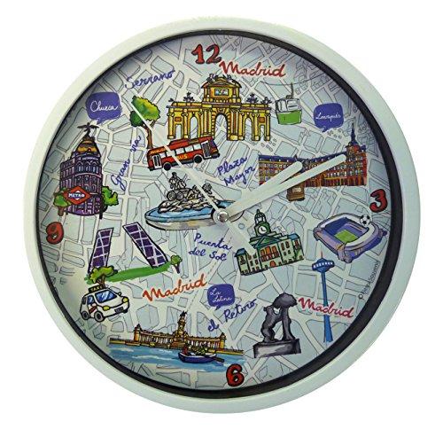 Nadal Uhr Karte Madrid, Mehrfarbig, 20x 20x 3,45cm Medium