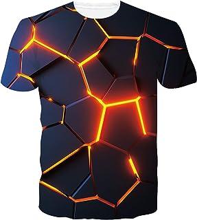 Loveternal Unisex Camisetas 3D Patrón Impreso Casual T-Shirt de Manga Corta Tops