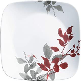 Corelle Boutique Square Lunch Plate Kyoto Leaves 9in (22.5cm) 6 Pack