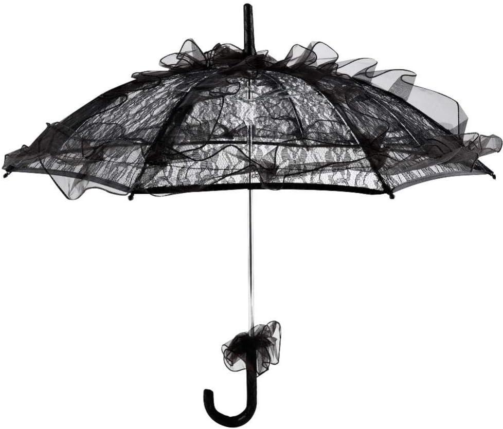 GLOGLOW Bride quality assurance Parasol Black Lace Dancing Popular standard Party Wedding Umbrella