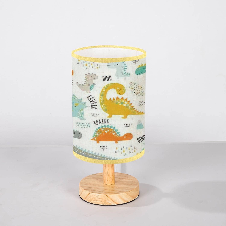 Minimalist Bedside Table Lamp Cute Pattern Funny Kids specialty shop Dinosaurs sale
