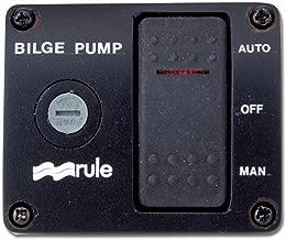Rule 43 Marine Deluxe Plastic Rocker Panel Switch (12-Volt) , Black