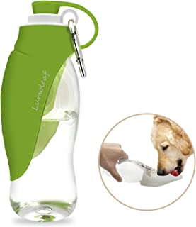 Portable Pet Water Bottle by LumoLeaf, Reversible & Lightweight Water Dispenser for Dogs and Cats, Made of Food-Grade Silicone (20 Oz)