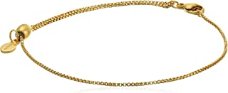 Alex And Ani Replenishment 19 Women's Pull Chain Clasp Bracelet, 14Kt Gold Plate Over .925 Sterling Silver