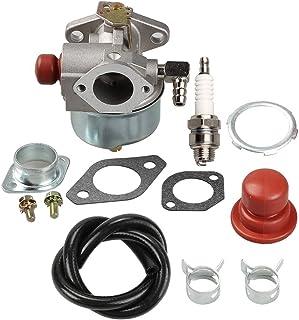 Carkio Air Filter Pre-Filter Fuel Filter Spark Plug Shut Off Valve Kit for John Deere D140 D130 L120 Z425 X130R X140 X165 L118 LA135 MIU11286 GY20575 Briggs /& Stratton 499486 499486S Lawn Mower