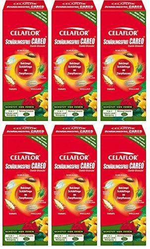 6 x 100 g Celaflor Schädlingsfrei Careo Combi-Granulat, 2in1 Schutz & Dünger