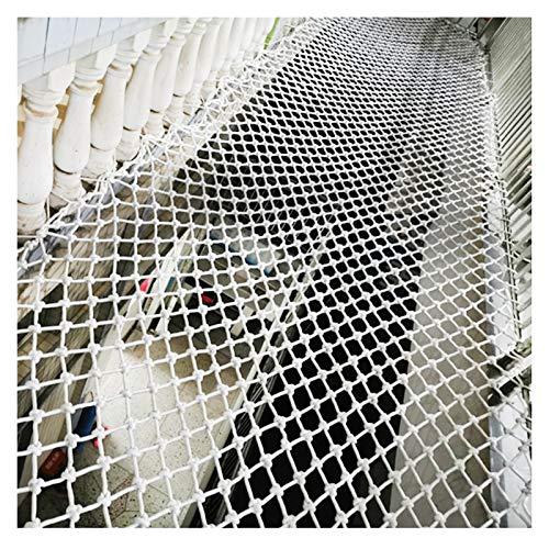 OSHA HJWMM Red de Seguridad, Red For Gatos Malla de Seguridad for Escaleras y Balcones Protección de Niños Mascotas, Red de Remolque (Color : White-4mm, Size : W1.6