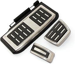 SODIAL Pedal fijo del freno combustible de deporte estilo de coche Juego de cubierta DSG para Seat Leon 5F MK3 para Skoda Octavia A7 para golf 7 ACCESSories automaticos: 3pzs AT