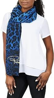 Roberto Cavalli C3S07D120 330 Blue Animal Print Shawl
