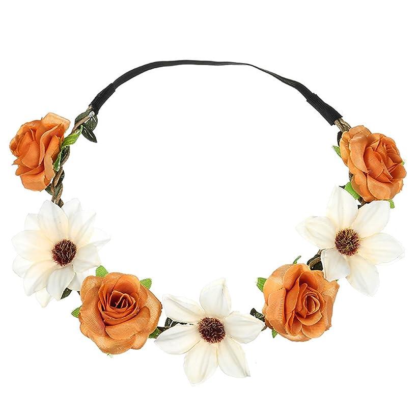 Boho Sunflower Rose HairBand Festival Wedding Garland Headband Hair Accessories Beach Party Sunmoot