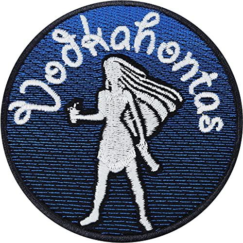 Parche de Vodka Trinker Pokahontas para despedida de soltero, camiseta de JGA, para boda, equipo, novia, princesas, alcohol, regalo para mujeres