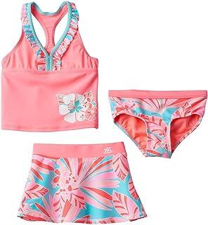 ZeroXposur Little Girls Fantasia 3-pc Tankini Swimsuit Skirt Set