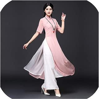 Summer Vietnam Chinese Dress Qipao Long Chinese Cheongsam Dress chinoise Modern Cheongsam