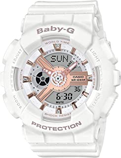 Casio BA110RG-7A Baby G Womens Watch White 43.4mm Resin