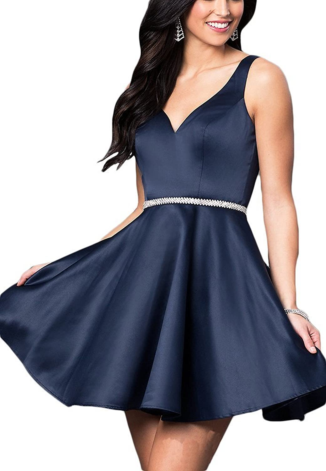 CongYunGe Short Aline Prom Homecoming Dresses VNeck Cocktai Party Gowns