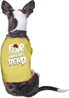 B-shop Fear The Walking Dead Pet Vest Sleeveless Funny Dog Cat Costume T-Shirt Small Dog Cat Clothes