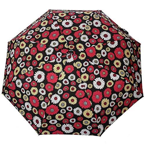 Parasol Parapluie Creative Fleur Automatique Parapluie Pluie Femmes Hommes 3 Pli Léger Et Durable Fort Parapluies Colorés Pluvieux Ensoleillé Noir