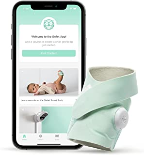 Owlet - Smart Sock 3 Monitor - Monitors Heart Rate and Oxygen for Baby and Child Safety, iOS and Android Compatible - Green