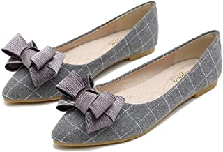 Kyle Walsh Pa Women Elegant Flats Shoes Bow Knot Pointed Toe Ladies Soft Comfortable Working Driving Moccasins