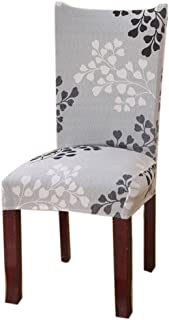 Jiuhong Stretch Removable Washable Short Dining Chair Protector Cover Slipcover, Style 03, 1 Pack