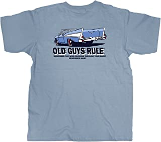 T Shirt for Men | Wind in Hair | Cool, Funny Graphic Tee for Dad, Husband, Grandfather Gift | River Blue