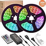 LED Strip Lights,UMICKOO Upgraded 10M/32.8ft Flexible Strip Light SMD 5050 RGB 300 LEDs with 44 Key Remote Controller, Multi-Color Changing Light Strips for Ceiling Bar Counter Cabinet Decoration