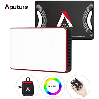 Aputure Amaran MC RGBWW Mini On Camera Video Light,Al-M9 Upgrade Version,3200K-6500K,CRI/TLCI 96+,HSI Mode,Support Magnetic Attraction and App with USB-C PD and Wireless Charging +UKHP Cleaning Cloth
