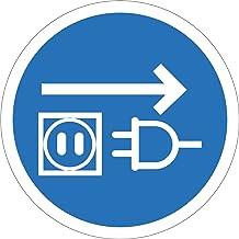 Indigos UG - stickers - veiligheid - waarschuwing - stekker uit het stopcontact trekken symbool - 100 mm diameter - sticke...