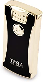 Tesla Coil Lighters™ USB Rechargeable Windproof Dual Arc Lighter (Gold)
