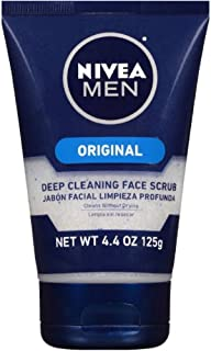 NIVEA FOR MEN Original, Deep Cleaning Face Scrub 4.4 oz (Pack of 12)