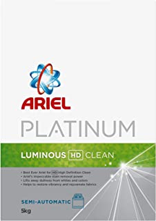 Ariel Automatic Platinum Laundry Powder Detergent Luminous HD Clean 5 kg