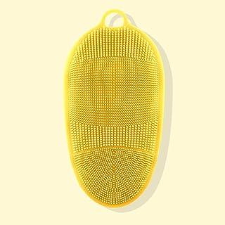 اكسسوارات استحمام NYKK للرجال والنساء قوية الظهر الفرك قفازات الطين الحمام سيليكون فرشاة تدليك الحمام & فرش الجسم (اللون: C)