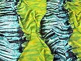 Kleiderstoff mit Aquarellstreifen, Polyester, Chiffon,