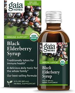 Sponsored Ad - Gaia Herbs, Black Elderberry Syrup, Daily Immune Support with Antioxidants, Organic Sambucus Elderberry Sup...