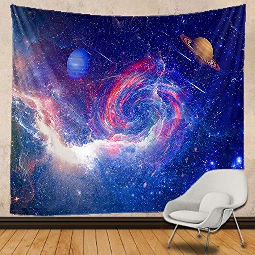 JXWR Tapiz de Cielo Estrellado Mandala Indio Tapiz Hippie Montaje en Pared Bohemia Tapiz Tapiz de brujería 150x130