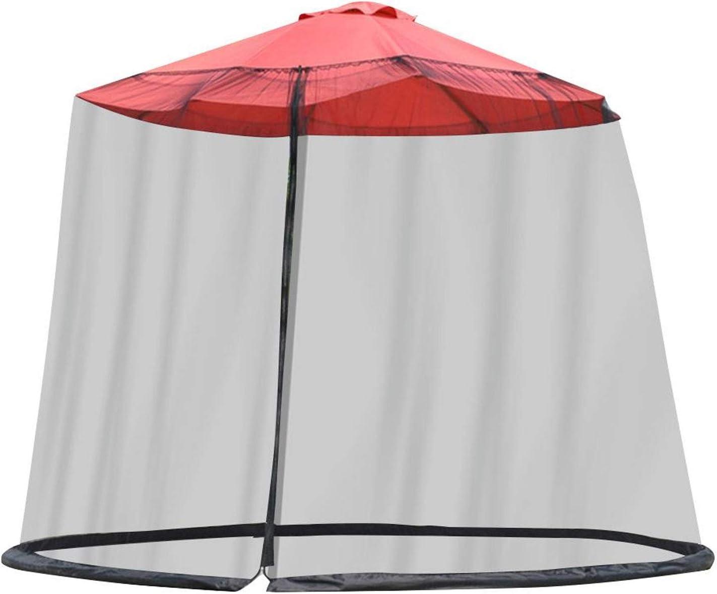 Red de sombrillas, Pantalla de cubierta de red de paraguas, Parasol Mosquitera Cubierta de red para insectos, Sombrilla de red para mesa, jardín, cenador, balcón, antiinsectos, 300x230cm (negro)