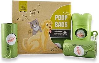 PEUPET 240 Count Dog Poop Bag with 1 Bone Dispenser-16 Refills Rolls-Compostable,Biodegradable,Degradable-Unscented