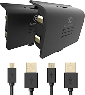 GameSir Xbox One Battery Pack, 800mAh Rechargeable Battery (2-Pack) with 10ft USB Charging Cable for Xbox One Controllers,...
