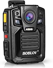 Body Worn Camera with Audio, BOBLOV 1296P Police Body Cameras for Law Enforcement, Security Guard, Waterproof Body Mounted...