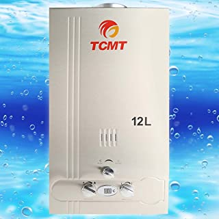 Tengchang 3.2 GPM Natural Gas Hot Water Heater Tankless Stainless Steel 12L Instant Boiler